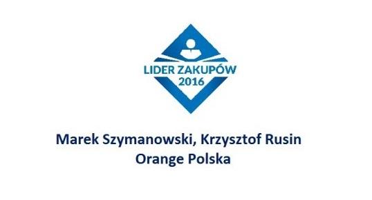 Krzysztof Rusin i Marek Szymanowski LIDERAMI ZAKUPÓW 2016