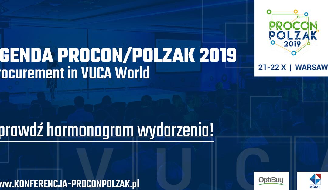 Agenda PROCON POLZAK 2019 już dostępna! – Procurement in VUCA World