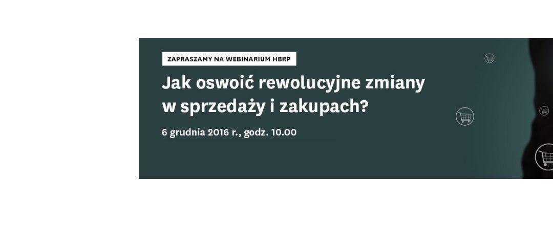 Webinarium z HBR Polska – jak dzięki zakupom zwiększać konkurencyjność firmy