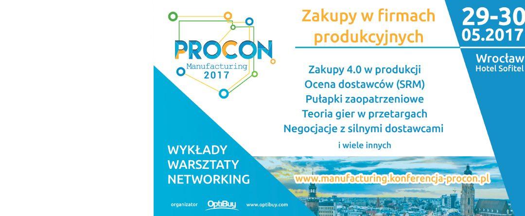 PSML partnerem merytorycznym Procon Manufacturing 2017