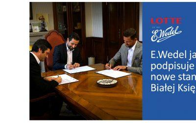 Wedel jako pierwszy reklamodawca podpisuje nowe standardy Białej Księgi Branży Komunikacji Marketingowej