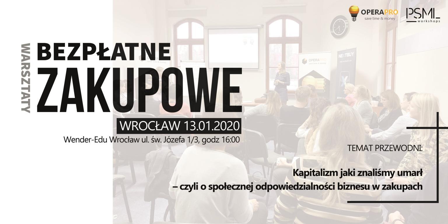 Bezpłatne warsztaty zakupowe, Wrocław 13.01.2020