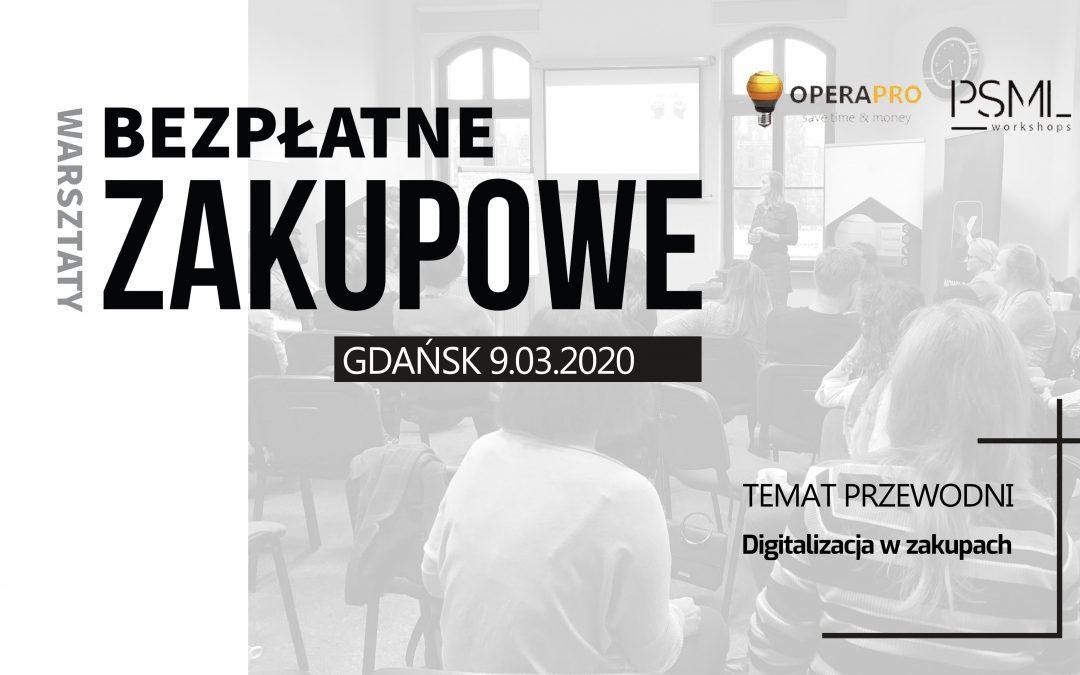 Bezpłatne warsztaty zakupowe PSML, Gdańsk 9.03.20