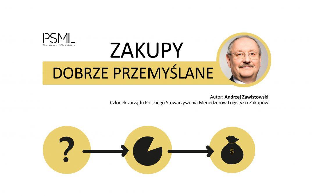 """""""Zakupy dobrze przemyślane"""" – artykuł autorstwa Andrzeja Zawistowskiego"""