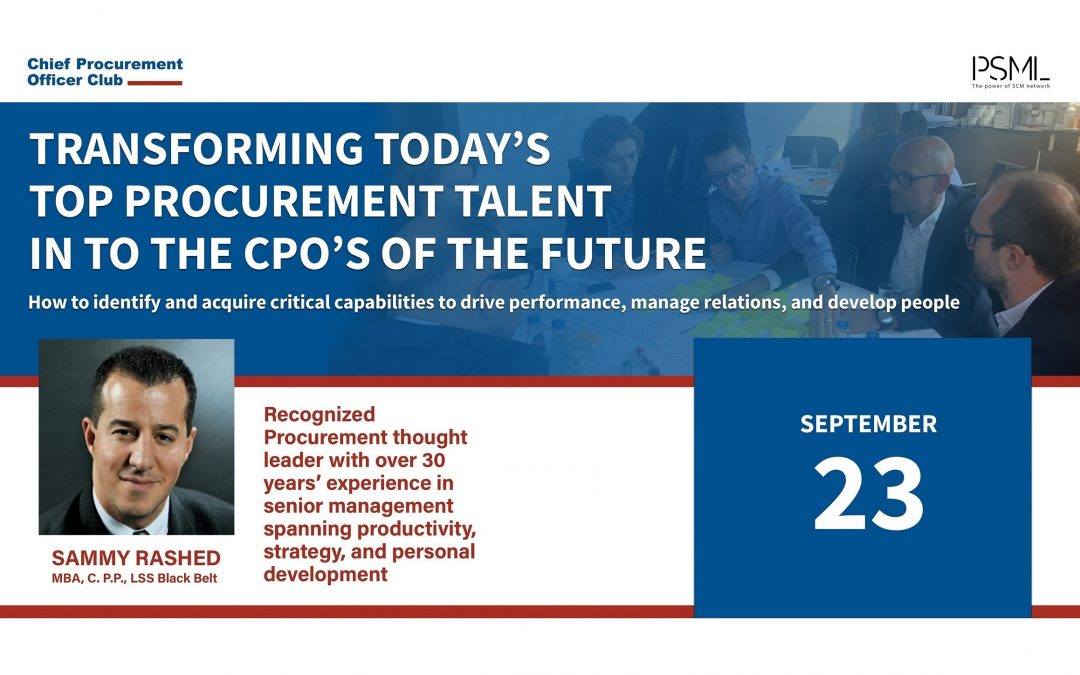 Transforming today's top Procurement talent into the CPO's of the future