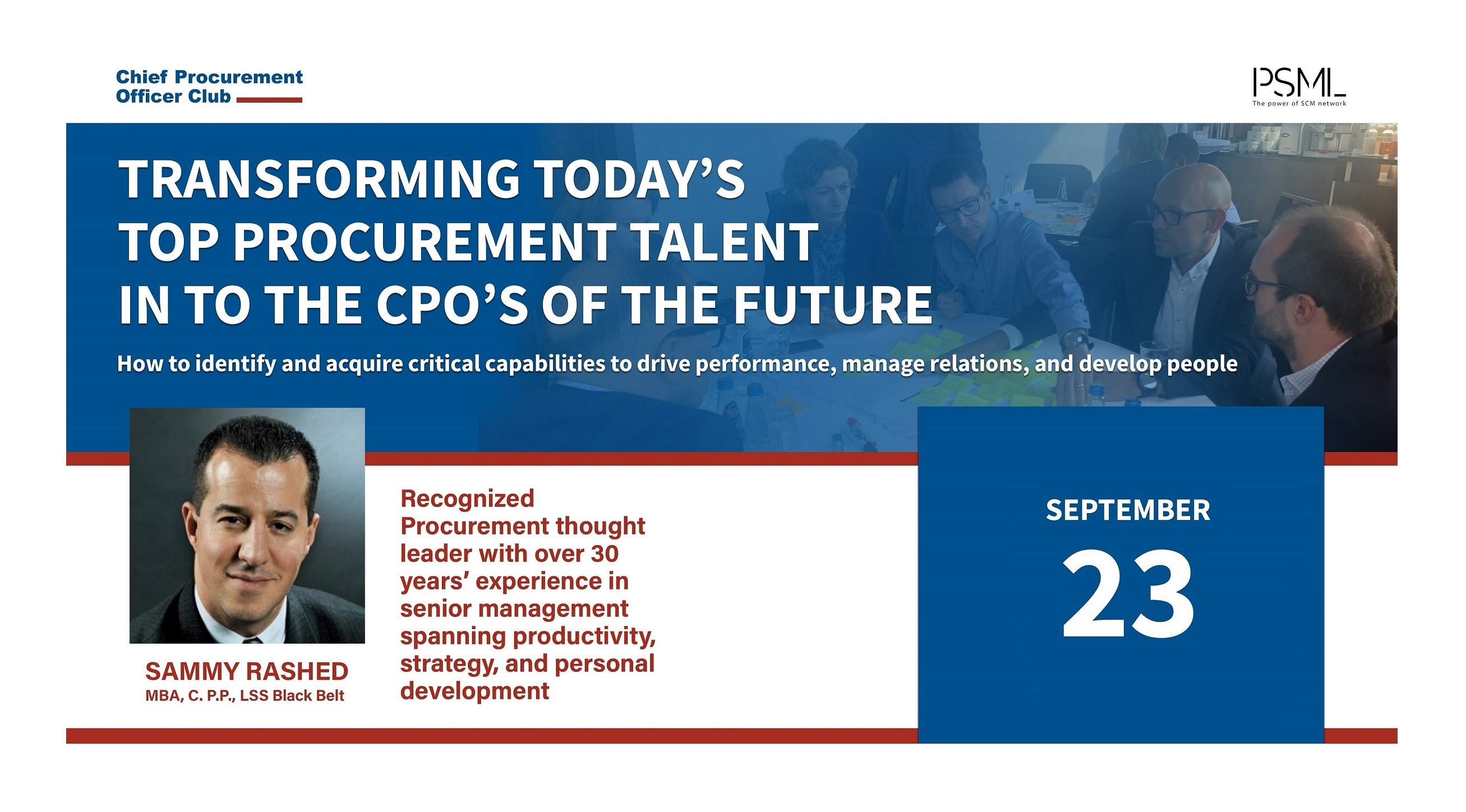 Warsztaty CPO Club: Transforming today's top Procurement talent into the CPO's of the future
