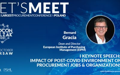 PROCON/POLZAK 2021 – I KEYNOTE SPEECH: Impact of Post-Covid environment on Procurement jobs & organizations