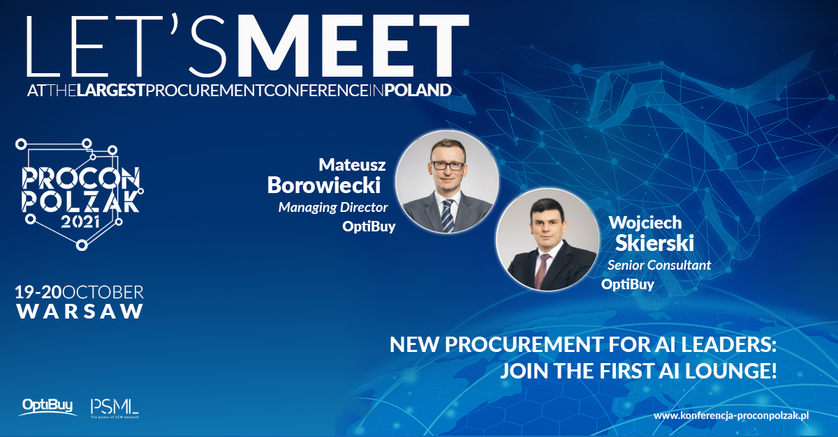 PROCON/POLZAK 2021 – New Procurement for AI Leaders: join the first AI lounge!